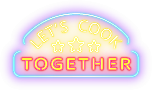 Let's Cook Together logo - white background